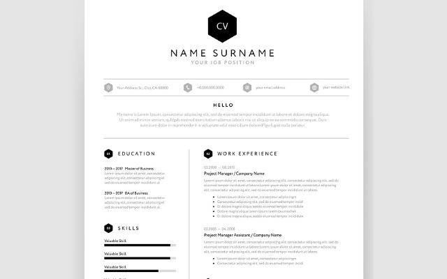 CV template: Modern one page format - CareerOne Career Advice